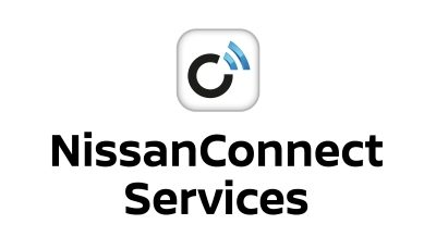 NissanConnect services app store and google play logos