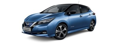 Nissan Leaf e+ blue with black roof