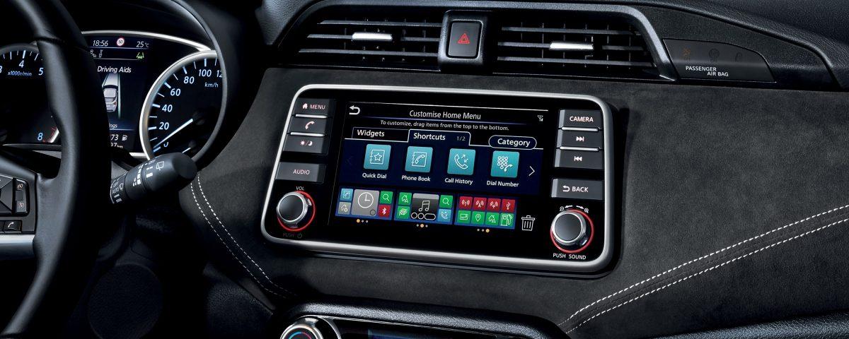 NissanConnect mit Tür-zu-Tür-Navigation Konsole