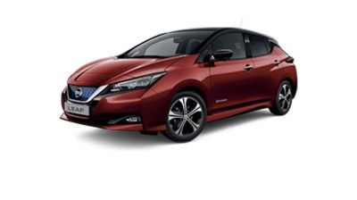 Photo 3/4 face de la Nissan LEAF