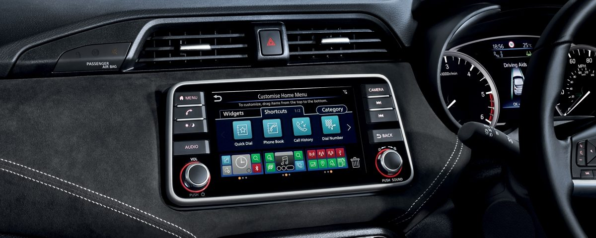NissanConnect with Door-to-Door Navigation console