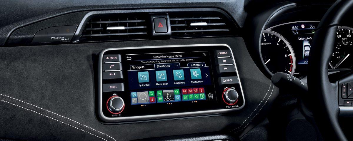 NissanConnect with Door-to-Door Navigation console