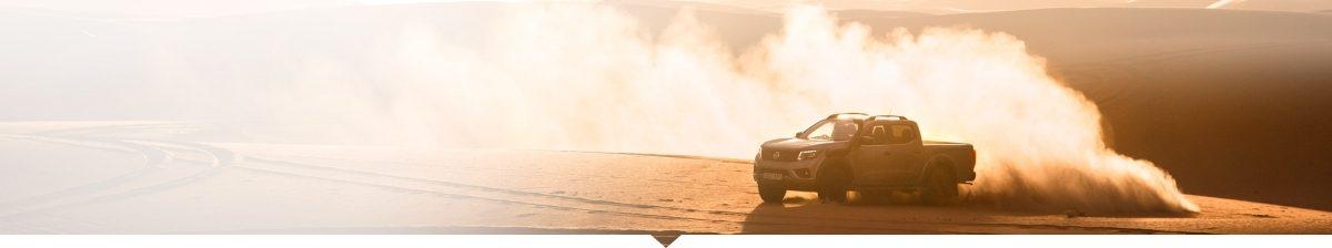 Nissan NAVARA driving in the desert