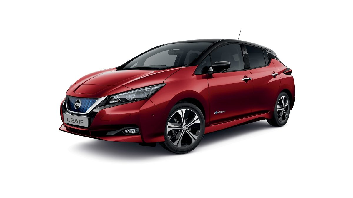 New Nissan LEAF 3/4 front packshot