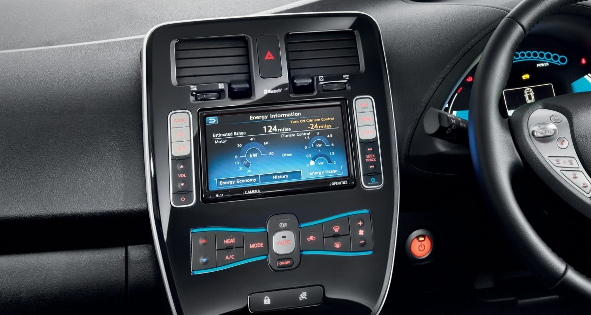 NissanConnect ev app console
