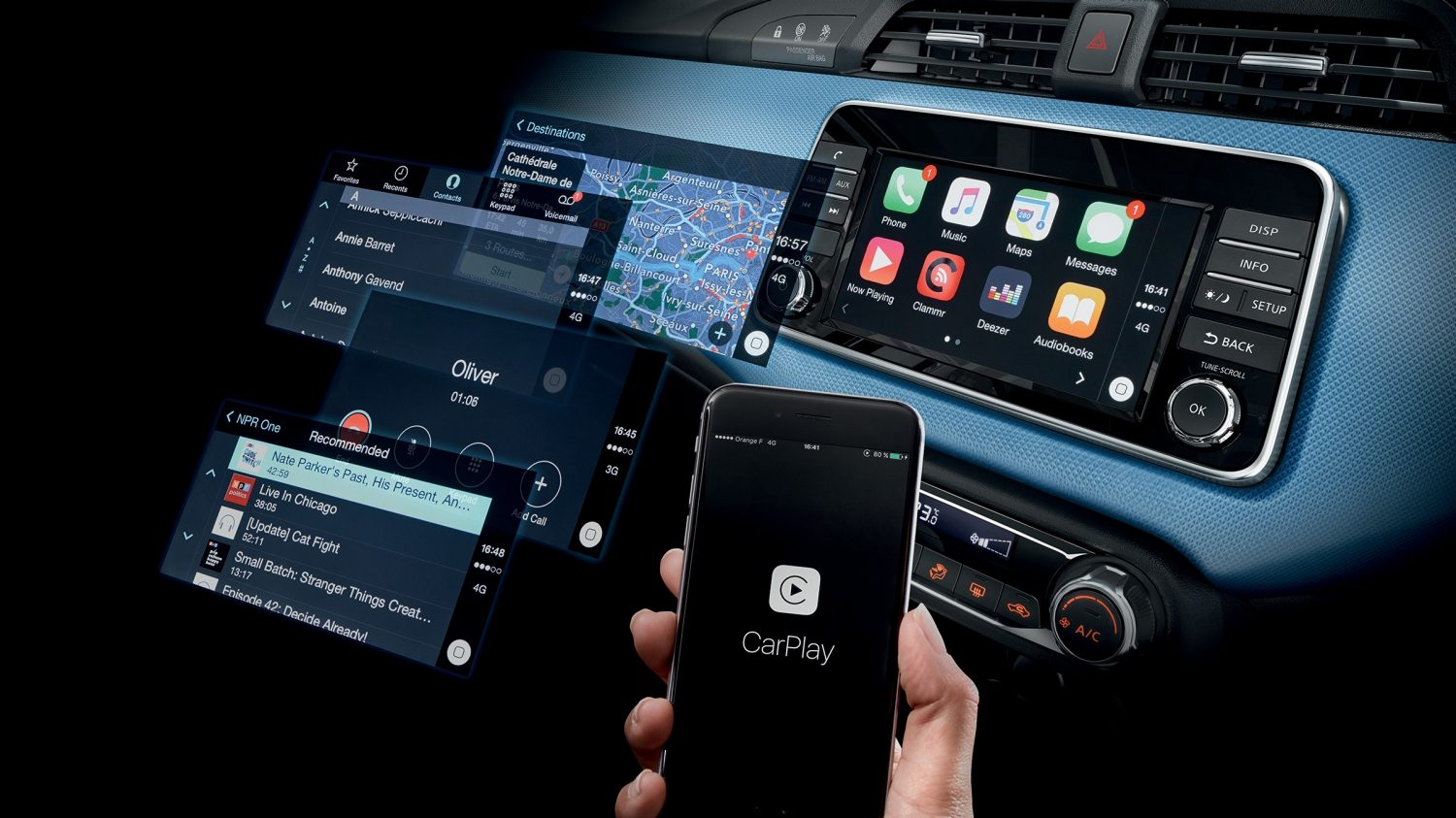 Android Auto, Apple CarPlay™