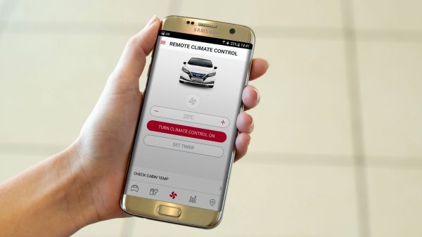 The NissanConnect EV smartphone app