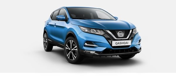 Nissan QASHQAI N-Connecta azul - Vista frontal 3/4