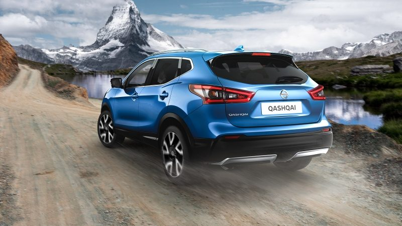 Illustration du dispositif intelligent 4x4 du crossover Nissan QASHQAI