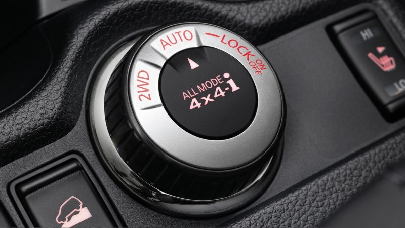 Nissan X-Trail All Mode 4x4i button
