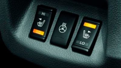 New Nissan e-NV200 Evalia heated front seats and steering wheel buttons
