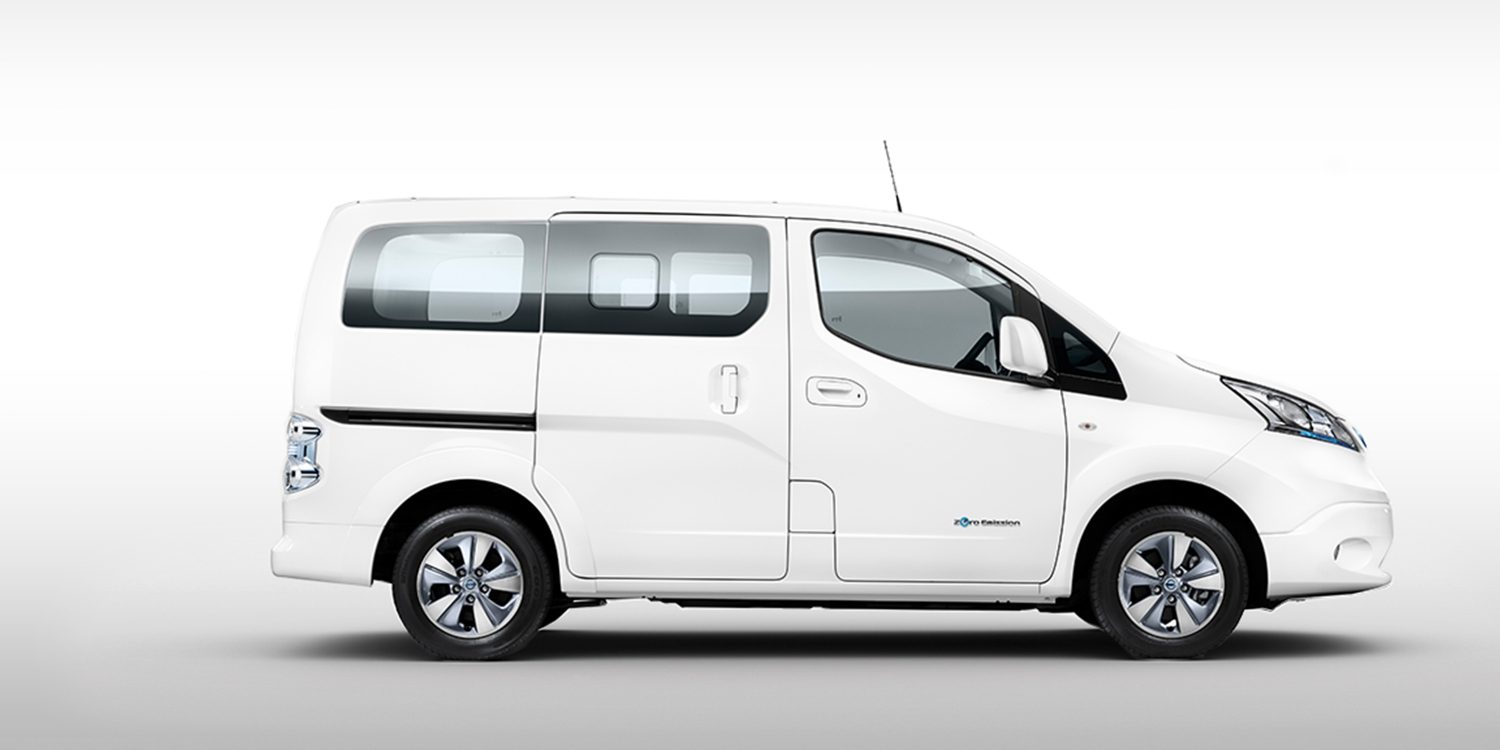 der neue nissan e nv200 evalia elektro familienauto 7 sitzer nissan. Black Bedroom Furniture Sets. Home Design Ideas