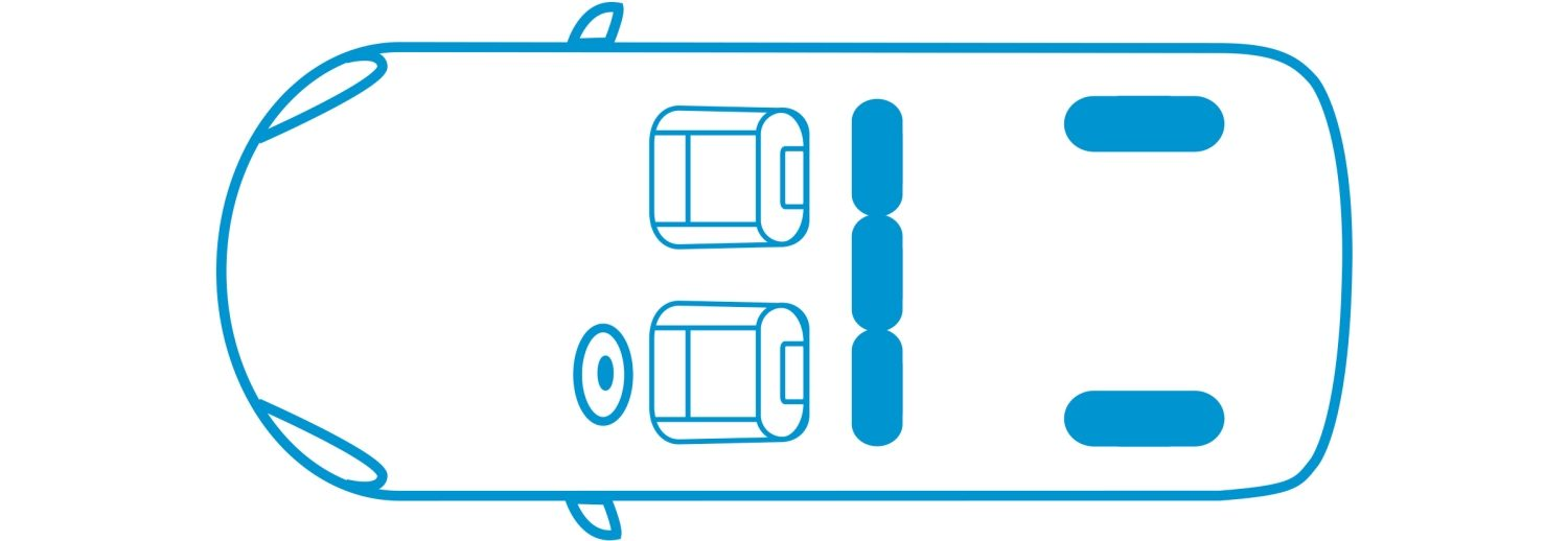 New Nissan e-NV200 Evalia 2 seats configuration icon