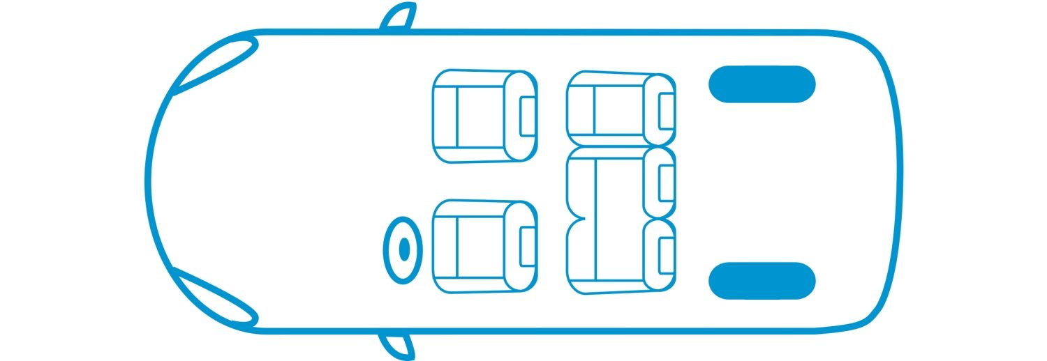 New Nissan e-NV200 Evalia 5 seats configuration icon
