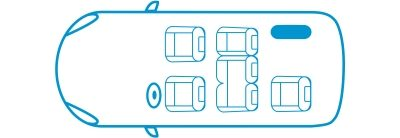 New Nissan e-NV200 Evalia 6 seats configuration icon