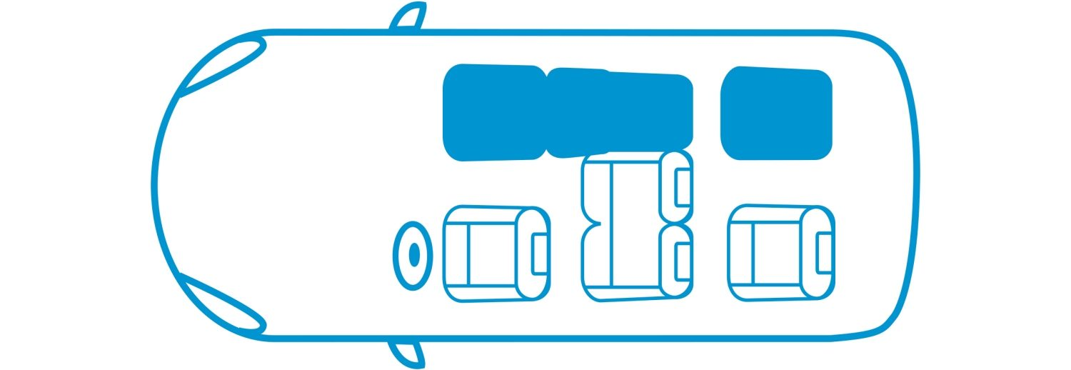 New Nissan e-NV200 Evalia 4 seats configuration icon