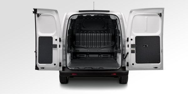 New Nissan e-NV200 rear view with rear doors open