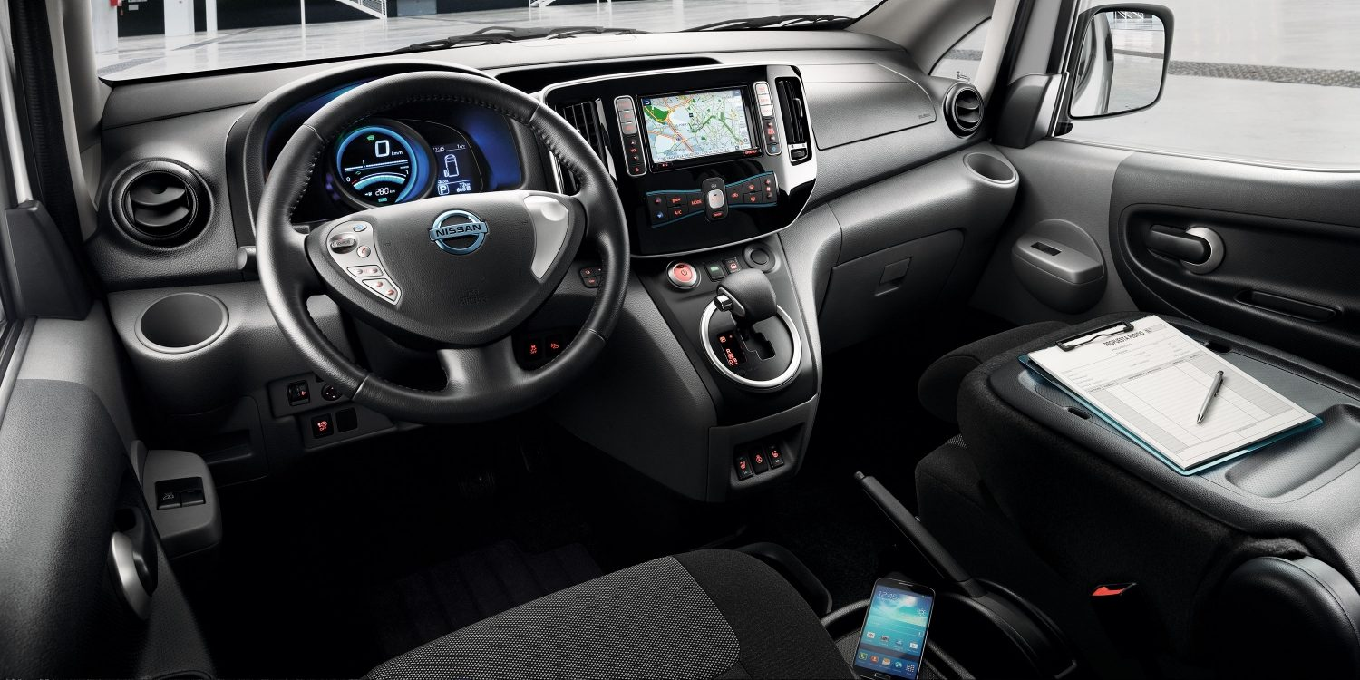 New Nissan e-NV200 interior view