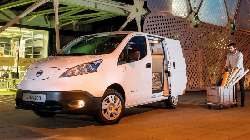 New Nissan e-NV200 3/4 front with side door open