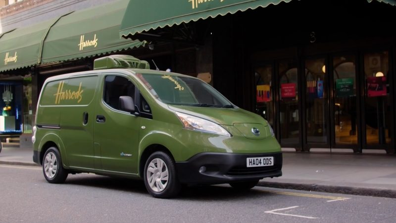 New Nissan e-NV200 of Harrods company in the street