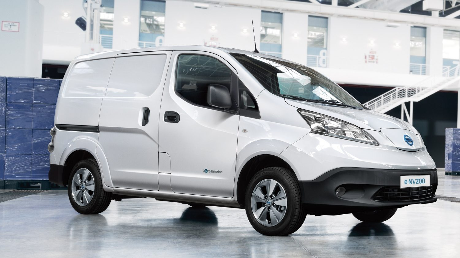 New Nissan e-NV200 parked in a warehouse