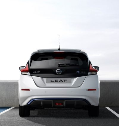 Nissan LEAF rear view parked