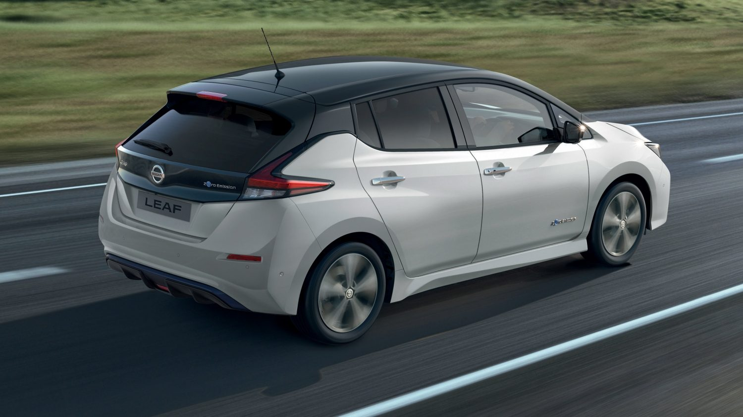 Nissan LEAF driving on open road