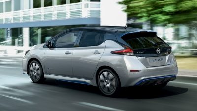 Nissan LEAF side under accent and rear spoiler finisher