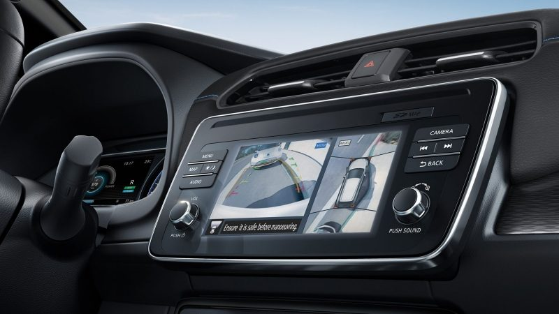 Schermata Intelligent Around-View Monitor di Nissan LEAF