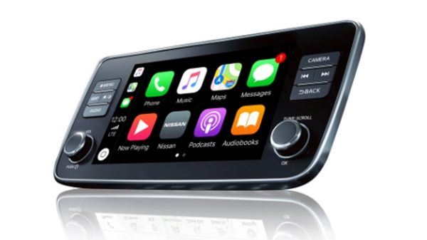 Nissan LEAF – zaslon Apple CarPlay