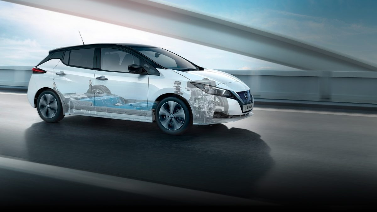 NISSAN LEAF DRIVING