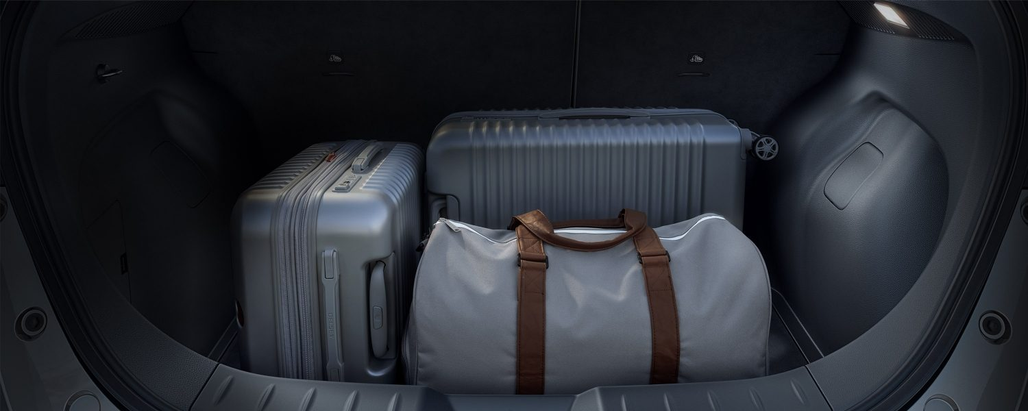 Nissan LEAF trunk with luggages