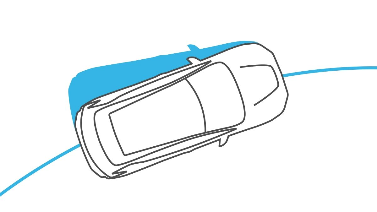 Illustrazione del Vehicle Dynamic Control di Nissan LEAF