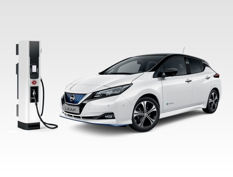 Nissan LEAF and charging station