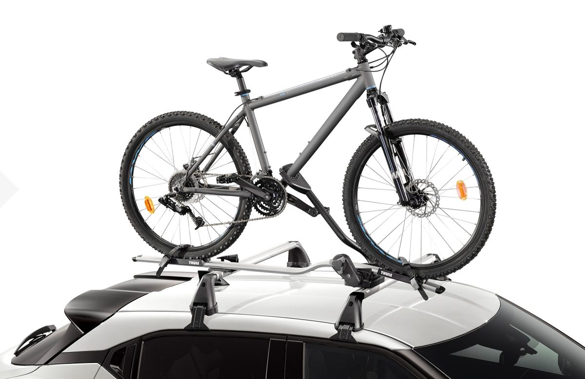 Nissan JUKE roof mounted bike carrier