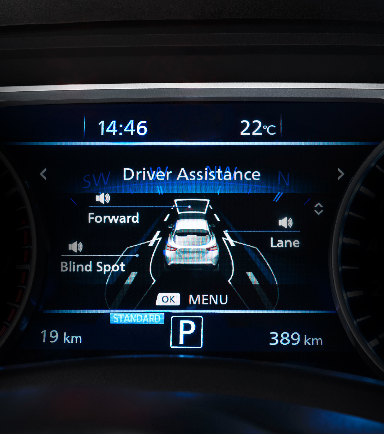"Nissan JUKE 7"" advanced drive-assist display"