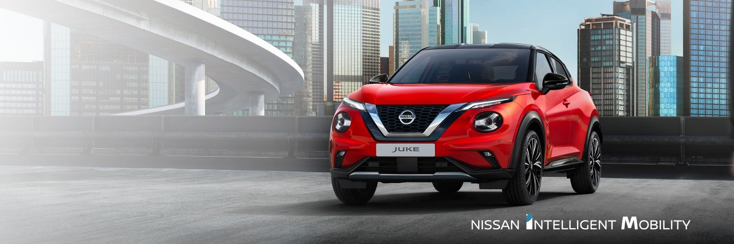 Nissan JUKE parked in the city