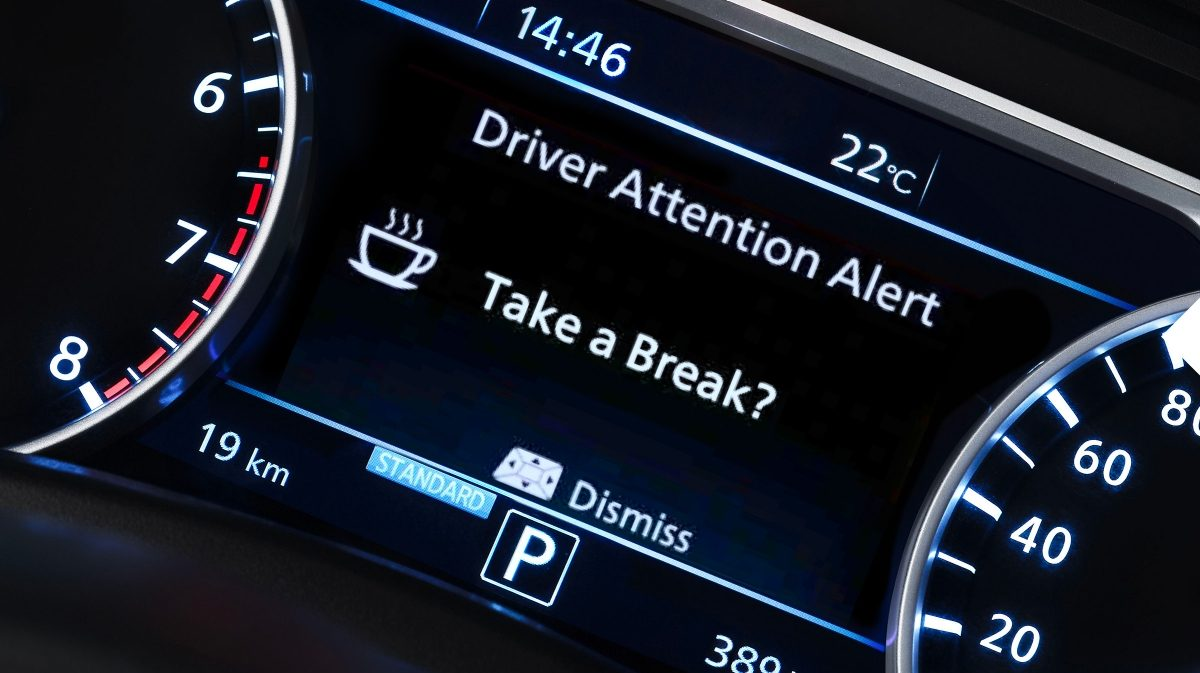 Nissan JUKE intelligent driver alertness tft screen