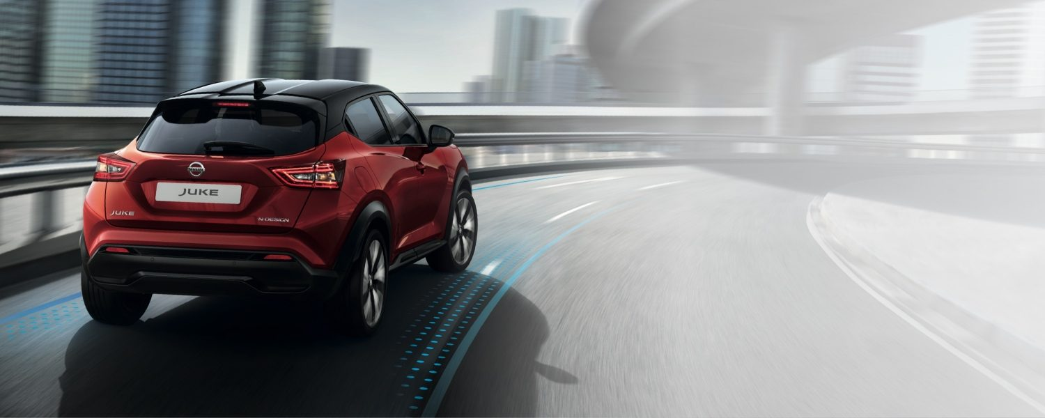 New Nissan JUKE driving in a round about