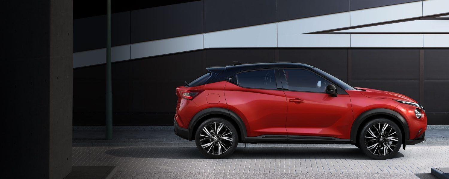New Nissan JUKE profile small SUV red