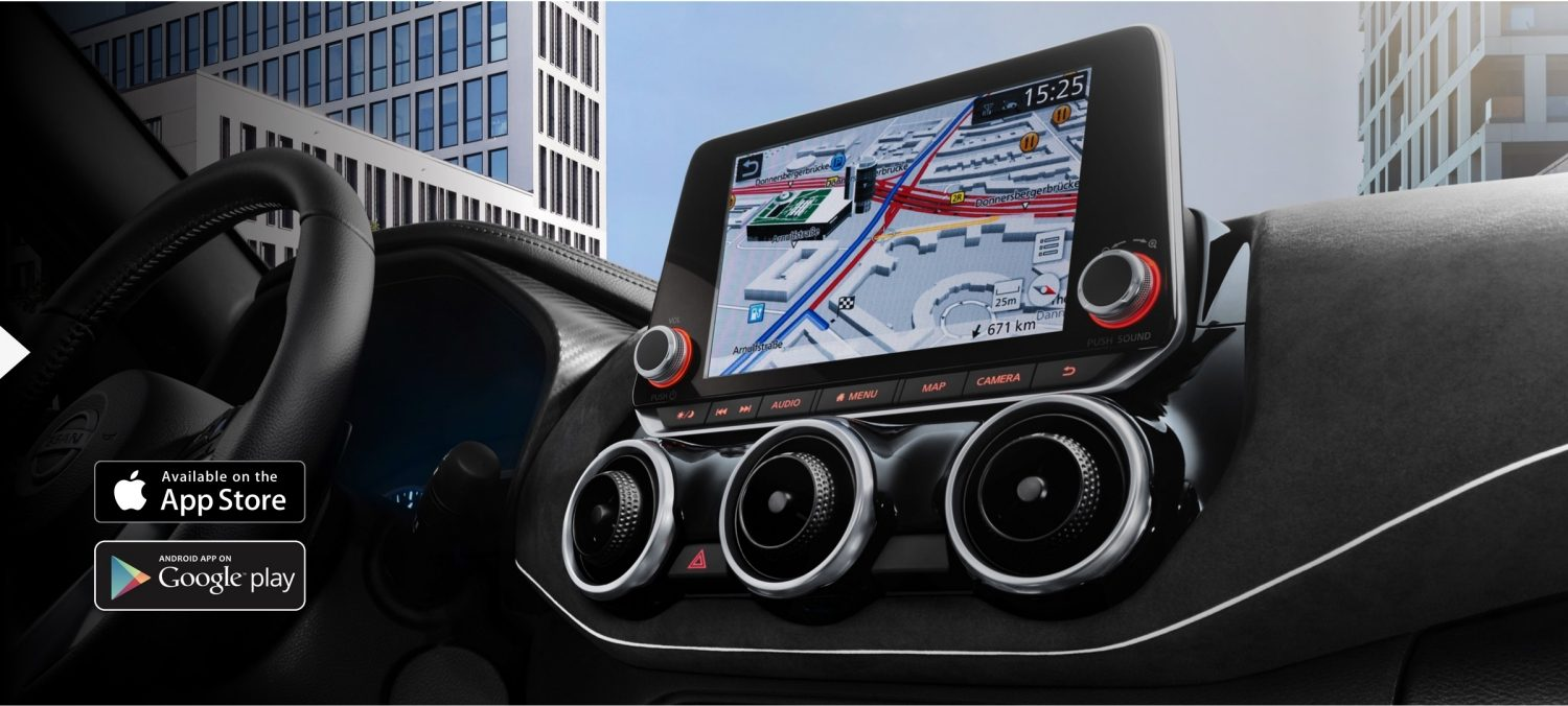 Nissan JUKE central console