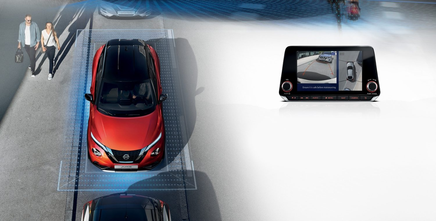 New Nissan JUKE front high view and centre screen for ProPILOT Park