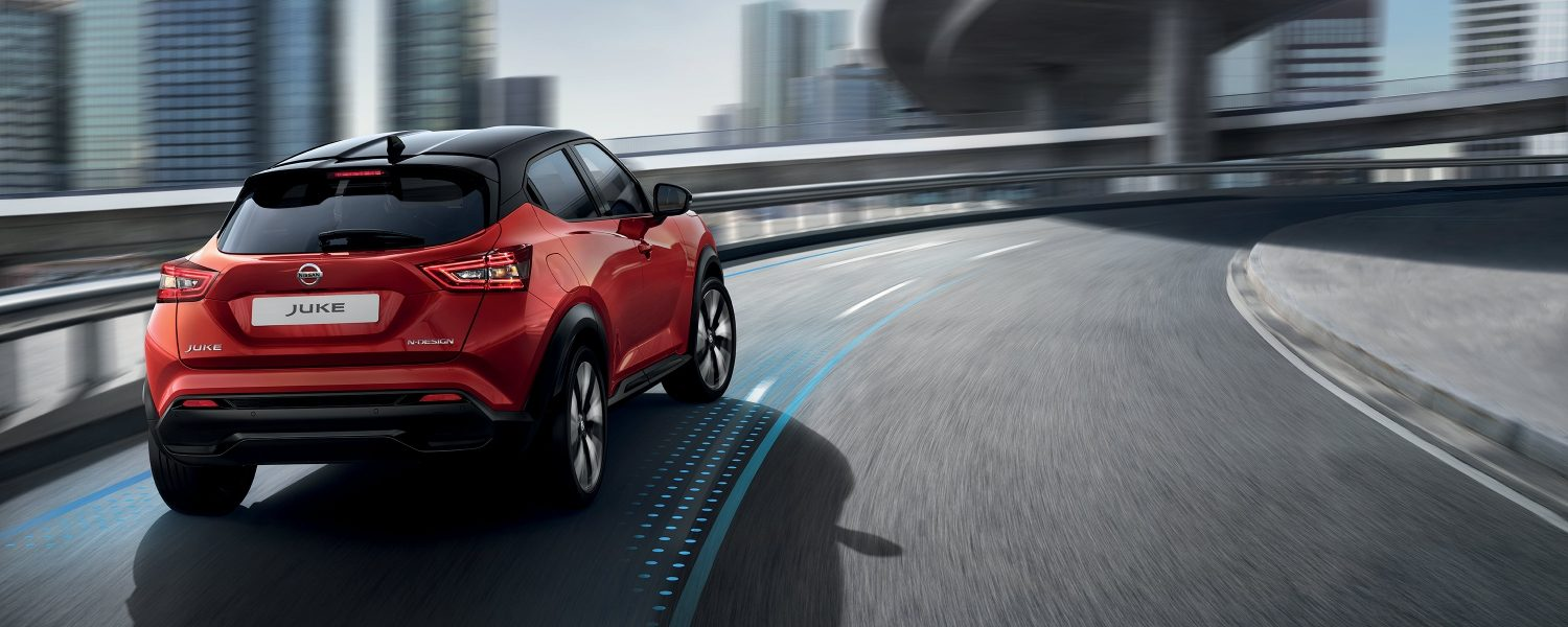 New Nissan JUKE driving in a curve