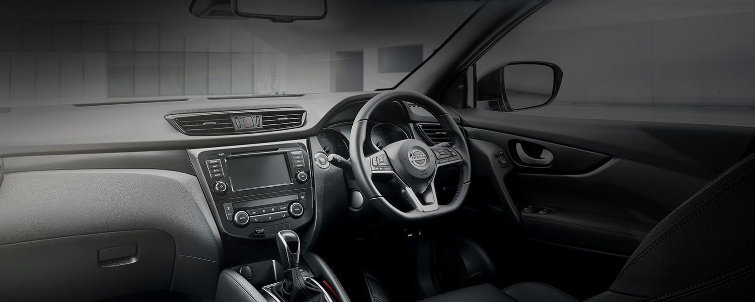 Nissan QASHQAI N-TEC interior view of the cockpit