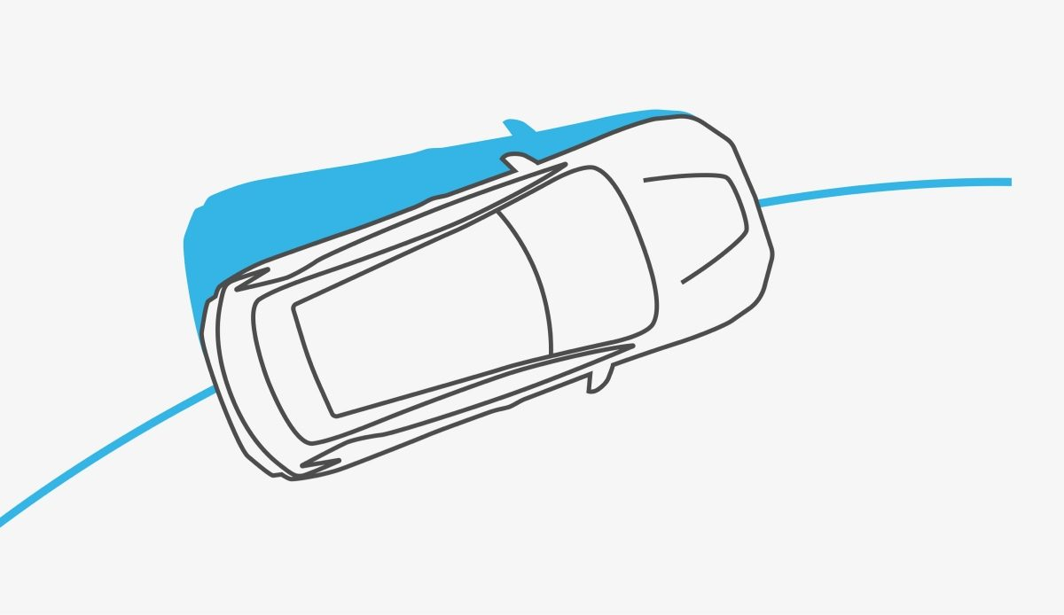 Nissan LEAF vehicle dynamic control illustration