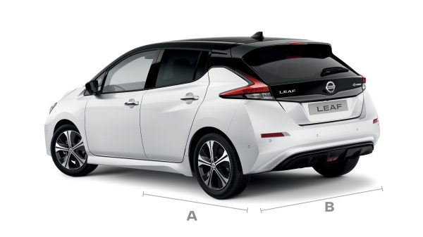 Nissan Packshot-leaf- tekna-white-back-3-4-