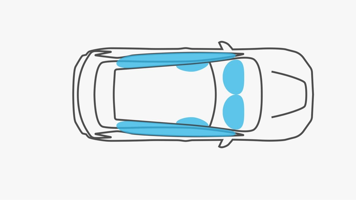 Nissan LEAF krockkuddar illustration