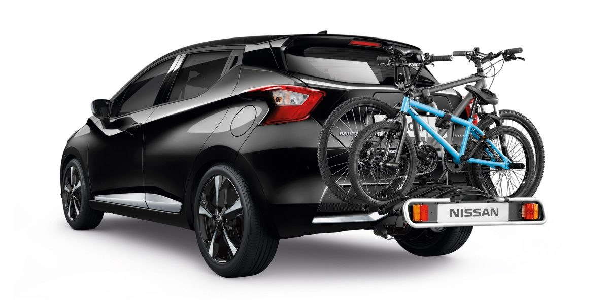 Nissan Micra black read bike carrier