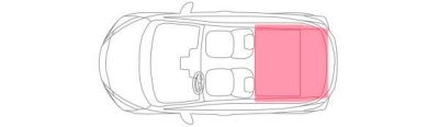 Nissan Micra Boot Capacity Illustration Rear seats down