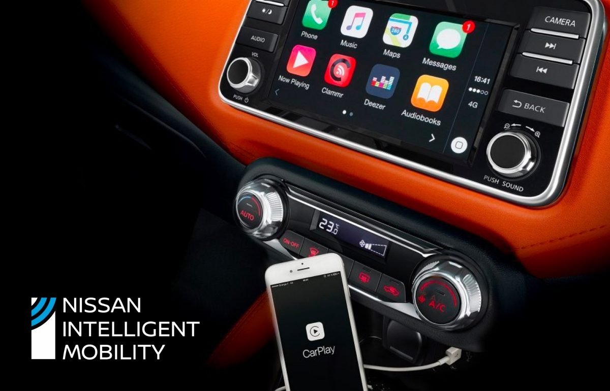 Nissan MICRA Apple CarPlay ekraan